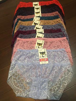 🚚 蕾絲內褲,11件(尺寸F)