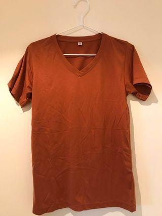 (FAST DEAL!) Ladies V Neck Top in Brown