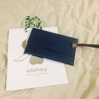 Sisley化妝包(深綠色)手拿包 晚宴包
