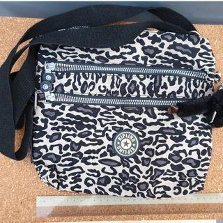 Kipling leopard sling bag