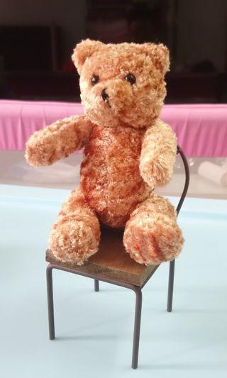 熊公仔連小木凳 bear & little chair
