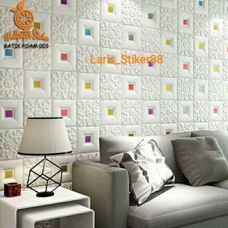 Wallpaper 3D Foam Modern style 70x70cm
