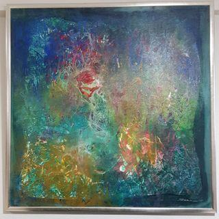 Singapore Artist Swee Kim Ann Abstract Art Painting