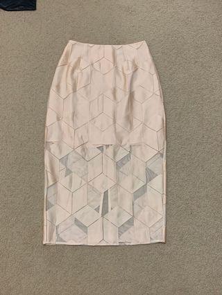 FINDERS KEEPERS diamond sheer skirt
