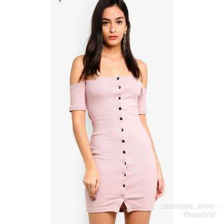 [New] Missguided Studded Button Bodycon Dress