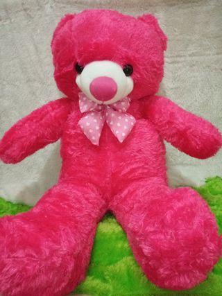 Boneka bear jumbo (merah bit)