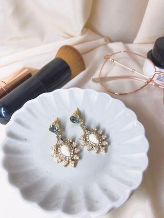 復古風格鑽飾耳環