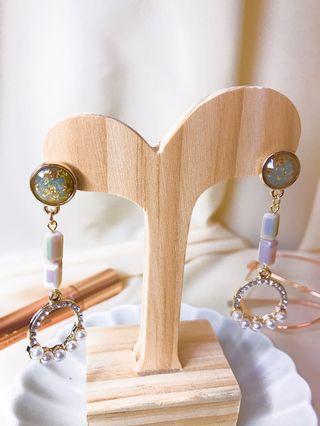 復古鑽飾垂墜式耳環