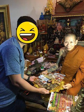 Chris bring all Lp Ler Amulets personally from temple