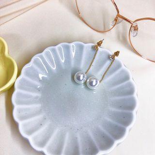 珍珠長條造型耳環
