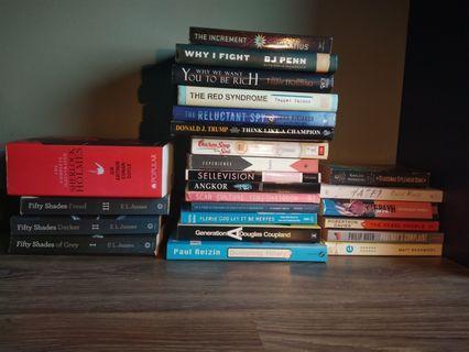 Bundle of quality books incl. Sherlock omnibus, Fifty Shades trilogy, Kiyosaki and many more