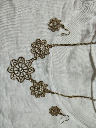 Simple chic necklace n earring set