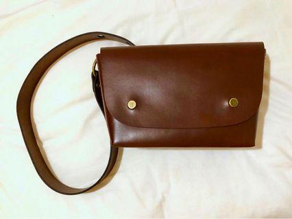 Tailfeather Peregrine Bag in Walnut (Leather cross body bag)