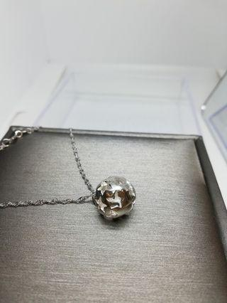 925 silver star Ball necklace