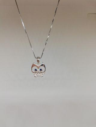 925 silver owl necklace