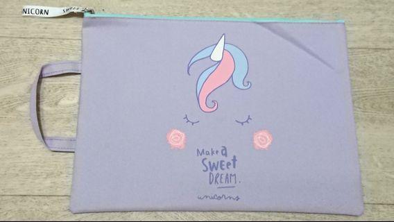 🚚 Unicorn-designed Homework File/Computer Bag