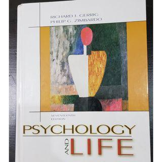 Psychology and Life (seventeenth Edition)