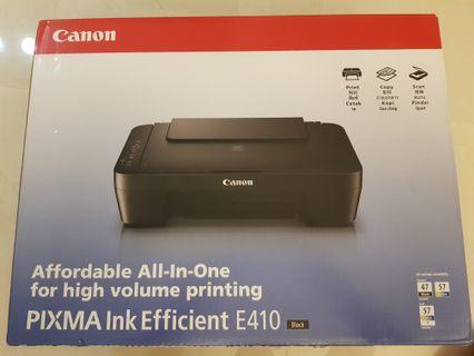 🚚 Canon printer pixma E410 black