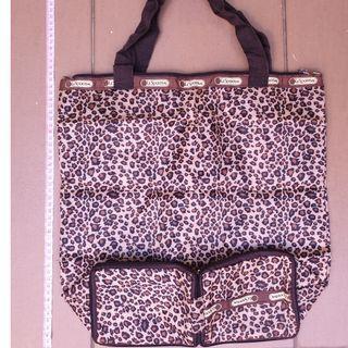 LeSportSac-foldable bag-leopard pattern