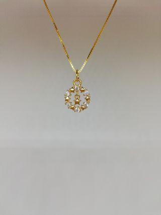 925 silver star necklace gold colour