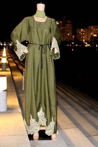 Elegant Green Abaya