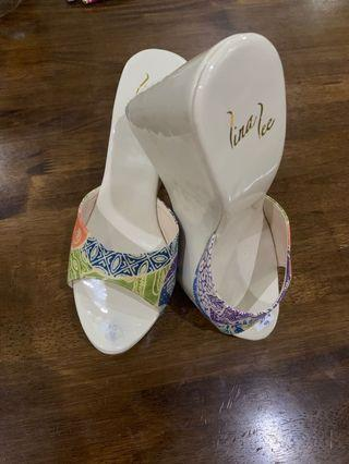 White wedges sandal