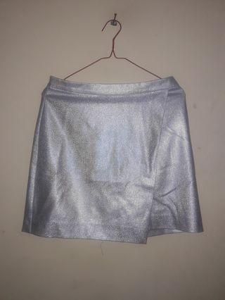 Grey Mini Skirt HM
