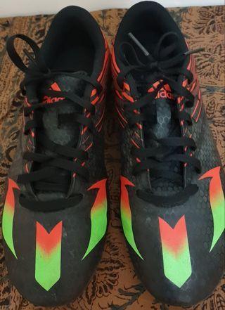 【降價含運出清】Adidas帥氣黑兒童足球鞋 【#23.5】