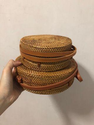 !! [BRAND NEW] !! Women Rattan Straw Bag