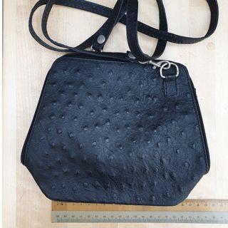 Small black Italian leather handbag