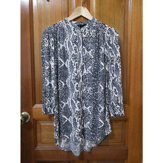 H&M longline snakeskin shirt