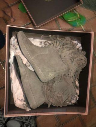 Juicy Couture Short Gray Suede Boots