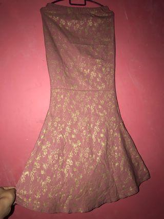 Gold printed Mermaid Skirt