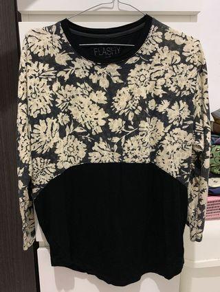 Kaos Lengan Panjang Bunga merk Flashy