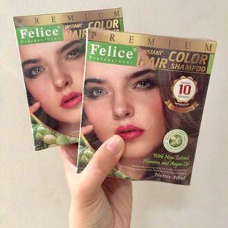 Felice instan instant hair color shampoo semir rambut sampo