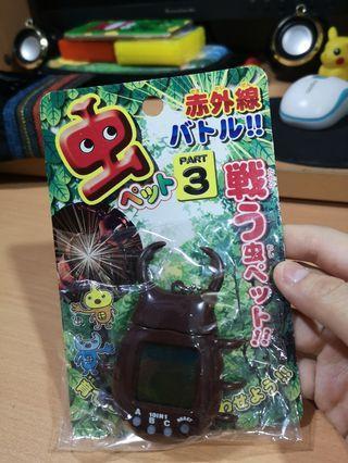 他媽哥池 電子寵物機 甲蟲育成3 紅外線對戰 日本 絕版