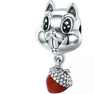 *MTO* Silver 925 純銀 松鼠松果吊飾吊墜 squirrel charm pendant  #MTRtw #MTRst #MTRcwb #MTRtst #MTRssp #MTRpe #MTRtaiwai #MTRmk #MTRcentral #MTRtko #MTRkt #MTRadm