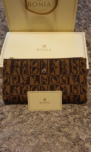 New Authentic Bonia wallet with box &paper bag