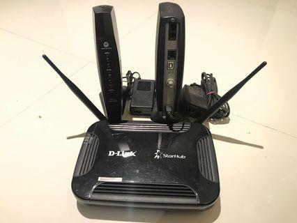 D-Link Router DVG-N5402SP & Motorola SBV5121 VoIP Cable Modem