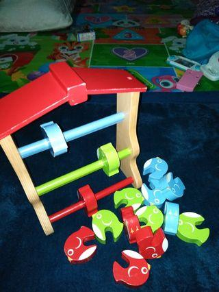 Preloved Wooden Toys - Birds Stacking