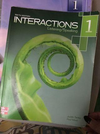 🚚 Interactions Listening/Speaking 英文課本