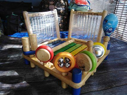 Preloved Wooden Toys - All in one musical instrument