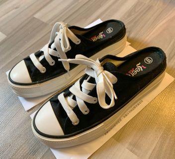 Woman sneaker flip flop shoes