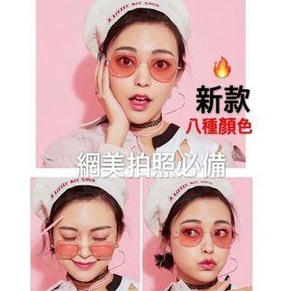 🚚 韓妞必備造型眼鏡 -粉色