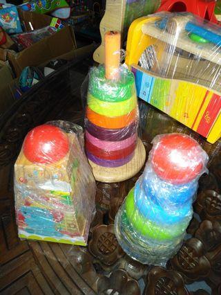 Preloved Wooden Toys - Stacking & Building Blocks