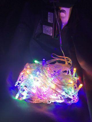 Colourful LED string lights