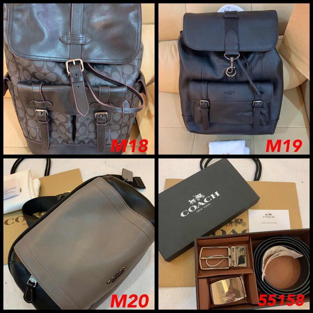 (25/05/19)Raya Ready Stock Authentic coach men bag backpack belt wallet purse crossbody traveller bag iPad phone holder clutch graham new restock