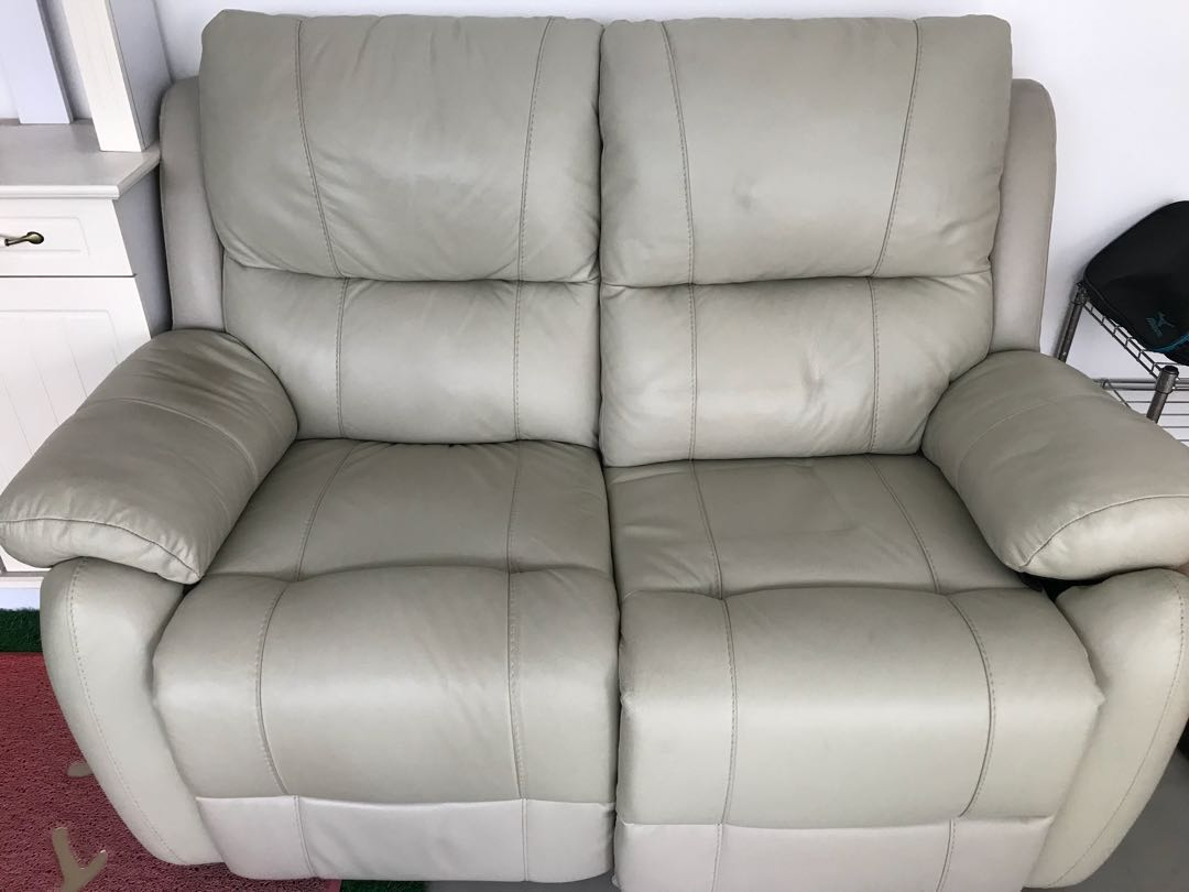 Outstanding 2 Seater Leather Sofa With Reclining Function Dailytribune Chair Design For Home Dailytribuneorg