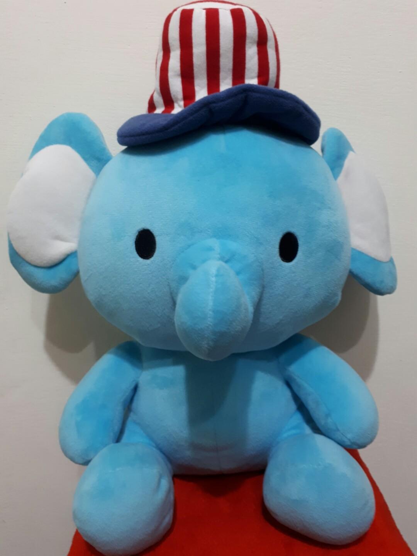 水藍大象玩偶