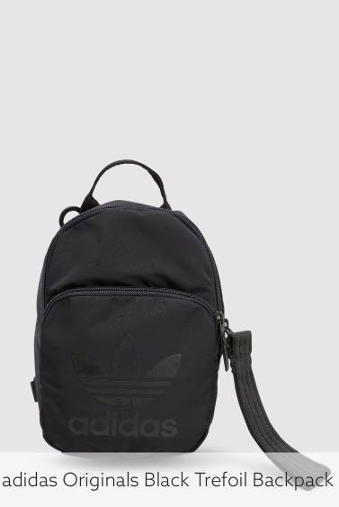 e2578c352 Adidas Originals Black Trefoil mini backpack, Women's Fashion, Bags ...